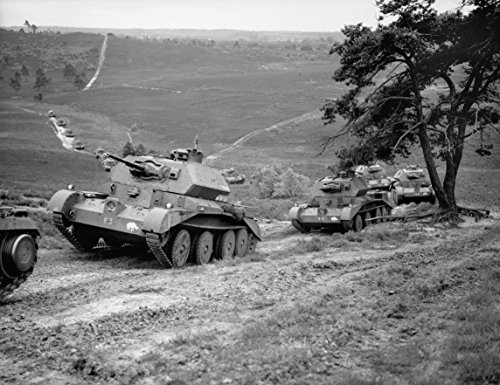 Home Comforts Laminated Poster Cruiser Mk IV Tanks of 5th Royal Tank Regiment, 3rd Armoured Brigade, 1st Armoured Division, on Thur Vivid Imagery Poster Print 24 x 36