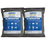 Gonzo Bamboo Charcoal (2 Medium Bags 250 Grams) Air Purifying Bags Odor Eliminator for Home Drawers...
