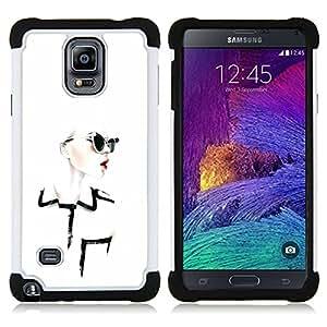 "Hypernova Híbrido Heavy Duty armadura cubierta silicona prueba golpes Funda caso resistente Para Samsung Galaxy Note 4 IV / SM-N910 [Diseñar ropa Chique Glamorous""]"