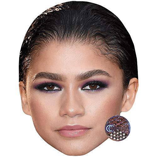 Zendaya (Make Up) Celebrity Mask, Flat Card Face, Fancy Dress Mask