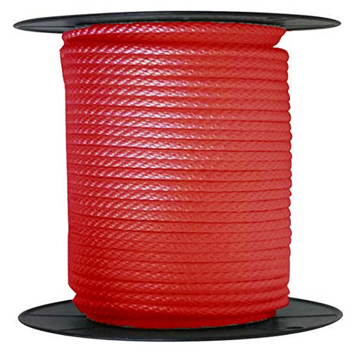 ANCHOR ROPE DOCK LINE 3/8″ X 300′ BRAIDED 100% NYLON Red MADE IN USA