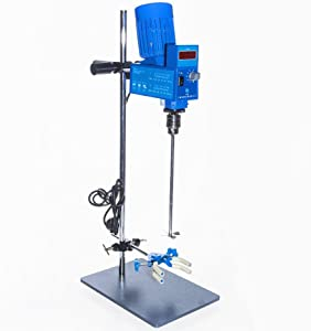 KUNHEWUHUA Powerful Overhead Lab Digital Stirrer mixer 2000RPM 20L (water) 10000m Pas Mixing machine blending blender 110V or 220V