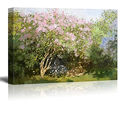 Quality Artwork, Stunning Composition, Lilacs in The Sun by Claude Monet Impressionist Art