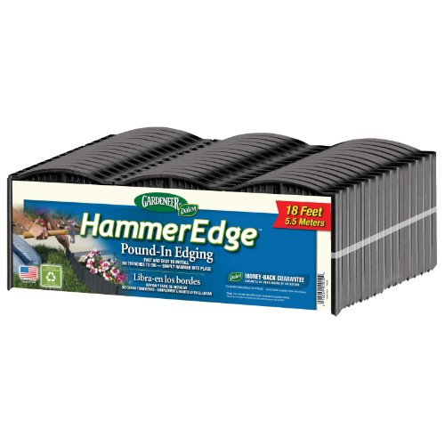 Garden Edging Borders - Dalen Products E3-16B Gardeneer Edge Pound-In Garden and Landscape Edging - Black