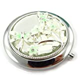 Les Trésors De Lily [J6941] - 'french touch' mirror 'Libellule De Soie' green.
