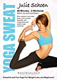 Yoga Sweat Yoga DVD for Weight Loss with Julie Schoen - Powerful and Fun Yoga