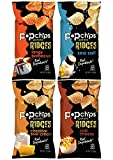 Popchips Potato Ridges Variety Pack Sampler, Large Family Size Bags, 3 Ounce (4 Count)