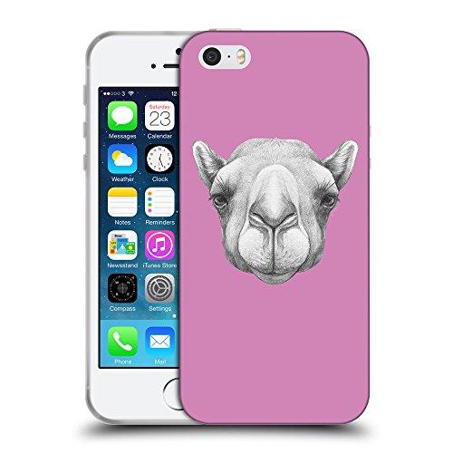 GoGoMobile Coque de Protection TPU Silicone Case pour // Q05360618 Portrait Camel Bronze // Apple iPhone 5 5S 5G SE