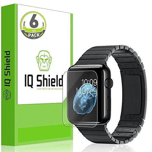 Apple Watch 38mm Screen Protector (Series 1 / Series 2), IQ Shield LiQuidSkin (Updated Design)(6-Pack) Full Coverage Screen Protector for Apple Watch 38mm HD Clear Anti-Bubble Film