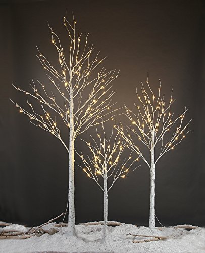 amazoncom lightshare 6ft 72l led birch treewarm white home kitchen