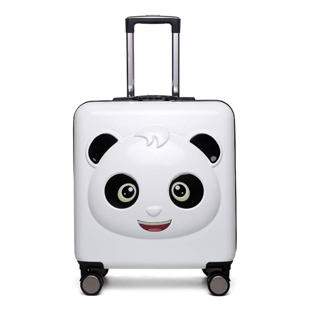 FRF トロリーケース- 子供の漫画のトロリー荷物のスーツケース、学生のかわいいスーツケーススーツケース20インチ (色 : 白黒, サイズ さいず : 20in) 20in 白黒 B07QY4FCZY
