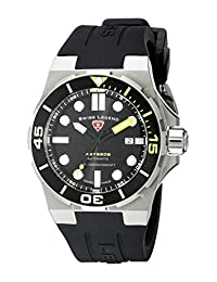 Swiss Legend Men's 10062A-01-YA-SM-RDB Abyssos Analog Display Swiss Quartz Black Watch