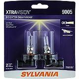 SYLVANIA 9005 XtraVision Halogen Headlight Bulb, (Contains 2 Bulbs)
