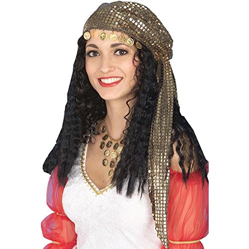 Forum Novelties Wig Gypsy & Scarf - Gypsy Wigs