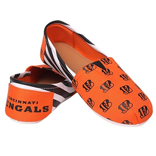 Pick Slip Summer Shoes On NFL Canvas Ladies Team Bengals Womens Cincinnati 2015 Collectibles Forever Stripes Football pq0PHP