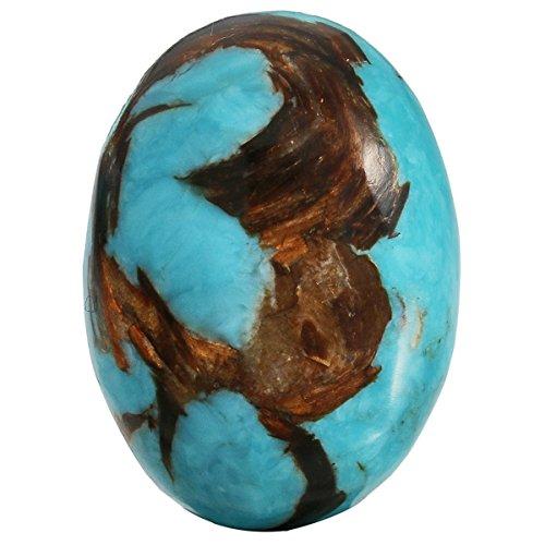 TUMBEELLUWA Sea Sediment Jasper Oval Stone Cabochons Flatback Semi-Precious CAB for Jewelry Making Pack of 5, Light ()