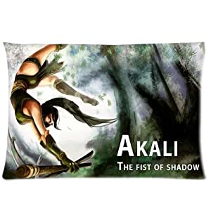 League of Legends Akali The First of Shadow Pillowcases 20x26 Inch