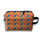 Bxsnd Usa Wrestling Unisex Oxford Cosmetic Bag Cute Travel Zipper Pouch Novelty Cosmetic Pouch