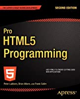 Pro HTML5 Programming, 2nd edition Front Cover