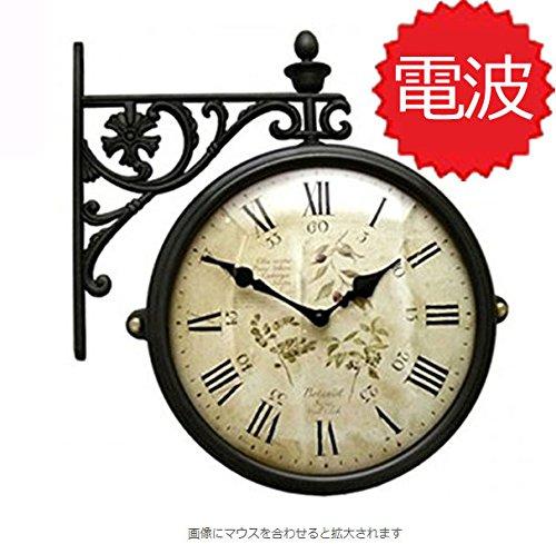 両面電波時計 両面時計 Interior Double Face Wall Clock おしゃれな インテリア 両面壁掛け時計 電波両面時計 M195 Br-F6 B072238DNN