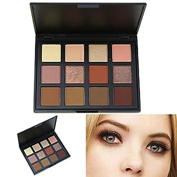 Cosmeticos Maquillaje Paleta de Sombras de Ojos, AMBITO 12 Colores Paletas de maquillaje Profesional Cosmético de Sombra de Ojos Paleta - #5