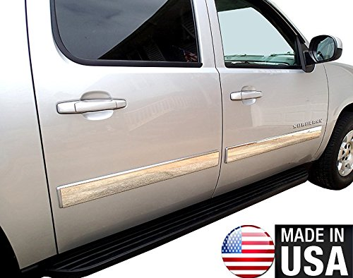 Works with 2010-2014 Chevy Avalanche//Suburban Body Side Molding Trim 4 Wide 4PC Made in USA