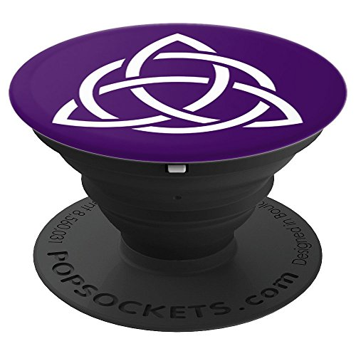 Purple Triquetra Trinity Symbol Celtic Knot Cheeky Witch - PopSockets Grip and Stand for Phones and Tablets