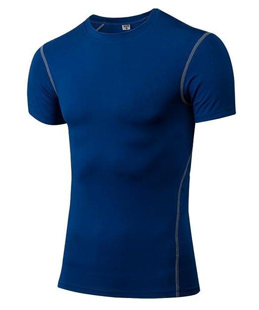 50b32005 Jessie Kidden Men's 1Pack Sport Short Sleeve Shirt Dry Fit Athletic  Compression Base Layer #1003