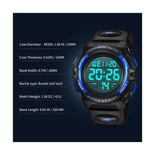 Montre Enfant Garçon Adolescent Digitale Outdoor Sport Multifonction Étanche LED Lumière Alarme Calendrier Date avec…