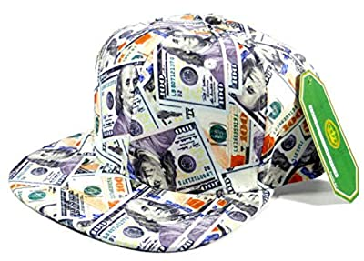 Cash Money New Hundreds All Over Print Snapback Hat