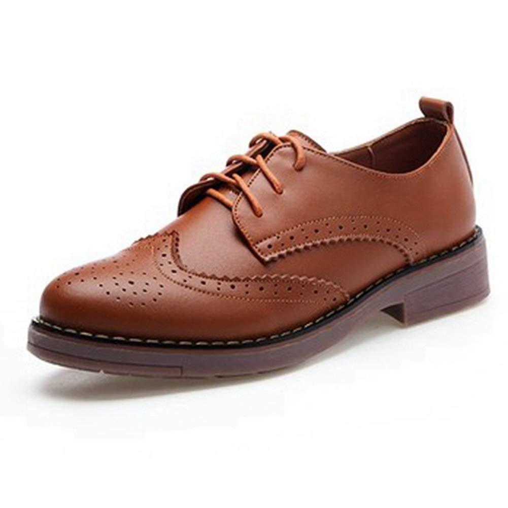 Damen Klassische Wingtip Oxfords Schuhe Vintage Brogues
