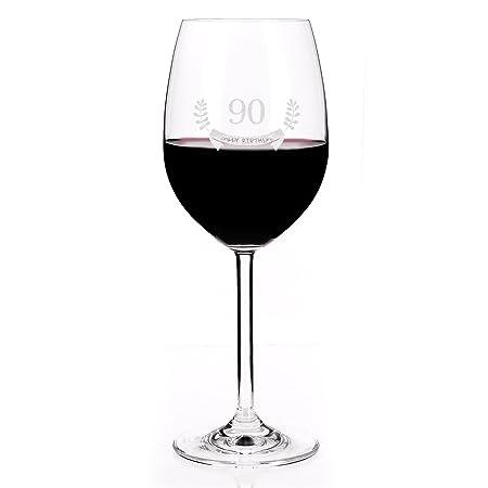 Leonardo Copa de Vino para 90 cumpleaños - Happy Birthday ...