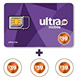 Ultra Mobile triple punch Sim Card + 3 Months $39 Plan