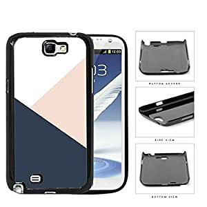 Navy Blue And Pink Geometric Hard Plastic Snap On Cell Phone Case Samsung Galaxy Note 2 II N7100