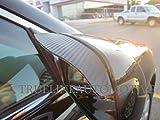 03 honda accord rain guards - TrueLine Black Carbon Fiber Mirror Visor Rain Guards