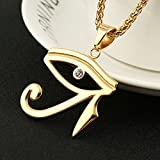 HZMAN CZ Eye of Horus Egypt Protection Pendant on