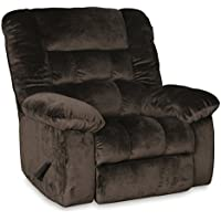 RevoluXion Sophie Plush Rocker Recliner (Glider Swivel Recliner, Chocolate)