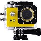 WinnerEco 2.0inch120 Degree Wide-angle Full HD 30M Waterproof Sports Action Camera DV DVR (Yellow)