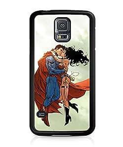 Batman And Wonder Woman DC Comics Funda Case Scratch-Proof Non Slip Ultra Slim Plastic Back Cover Skin For Samsung Galaxy S5 i9600