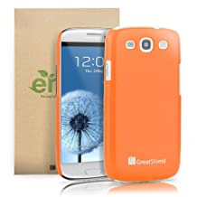 GreatShield UV Slim-Fit Back Case Cover for Samsung Galaxy S3 III i9300 - (Orange)