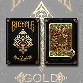 SOLOMAGIA Bicycle Gold Deck by US Playing Cards - Tarjeta Juegos - Trucos Magia y la Magia