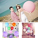10colors 5pcs 36 Inch Giant Latex Balloon for Birthday Wedding Party Decoration (Pink)