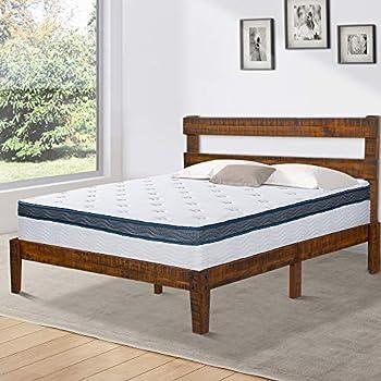 Amazon Com Olee Sleep Vc38sf02q Solid Wood Platform