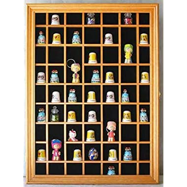 59 Thimble Display Case Cabinet, with REAL Glass door, Felt Interior Background-TC01- OA