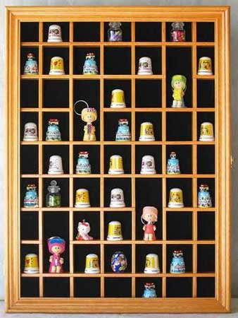 Amazon.com: 59 Thimble Miniature Display Case Cabinet, glass door ...