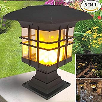 Solar Light Outdoor Solar Flickering Flame Lantern 24 Led Solar Wall Light Wireless Lighting Lamp Waterproof Wall Mounted Night Lights For Garden Path Yard Patio Amazon De Beleuchtung