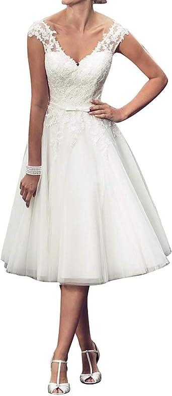 SongSurpriseMall Robes de mariée col en V