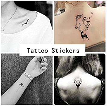 Amazon.com : INHDBOX [20 Sheet] Temporary Tattoos Paper, Body Art ...