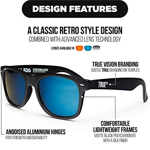 Azul Sol Estilo VISION TRUE Polarizadas UV400 De Reflejantes Gafas Negras xSgwAz1q
