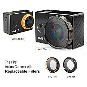 ThiEYE Original V5s 4K Wifi Sports Action Camera with Replaceable Filters Big Lens 360° 12MP Photo Rotation 197FT Waterproof 1080p HD Video Cam